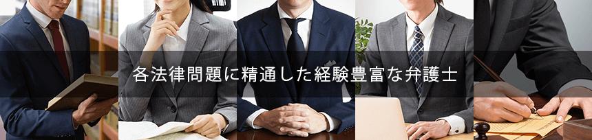各法律問題に精通した経験豊富な弁護士紹介